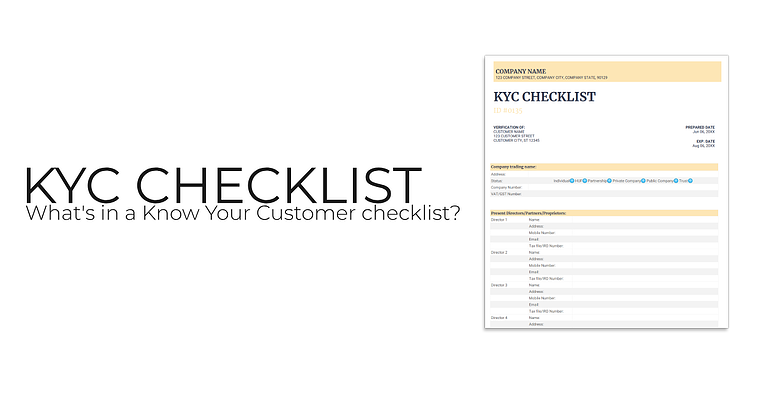 Banner: What's in a KYC checklist?