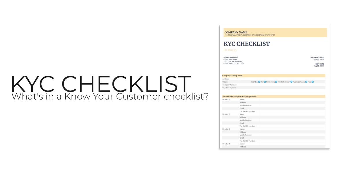 Banner: What's in a KYC checklist?