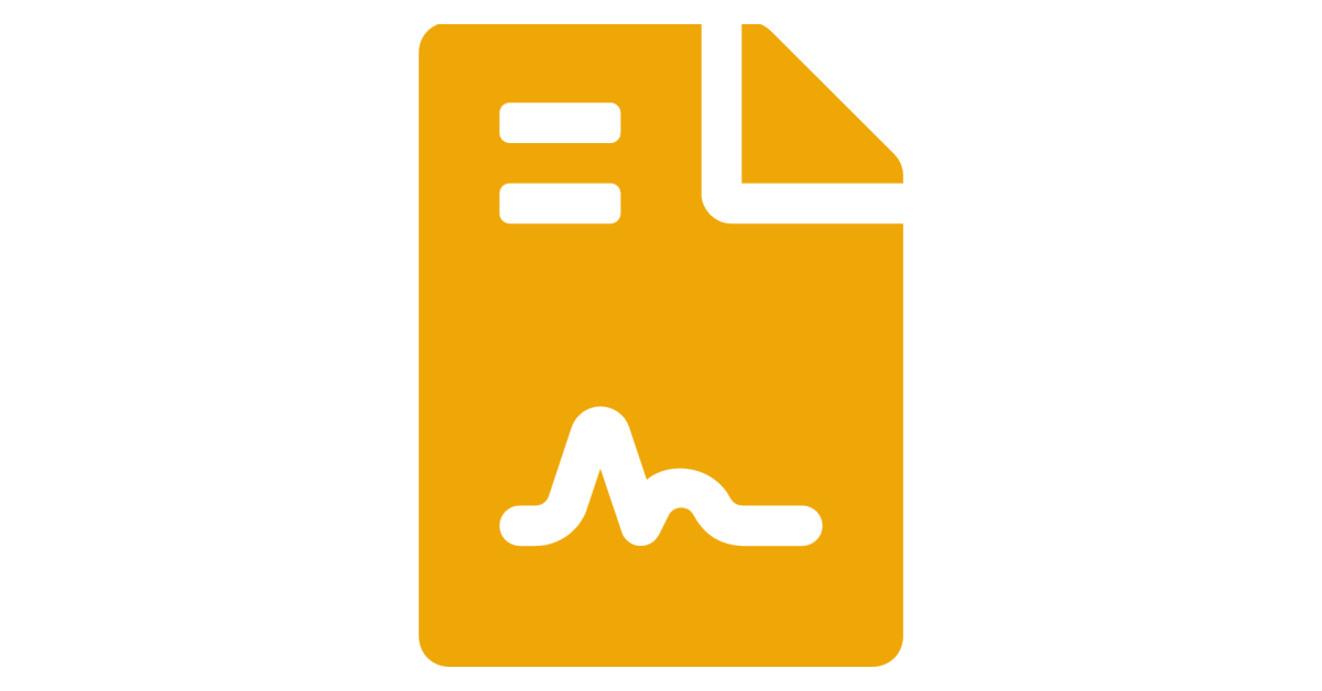 large file icon with an e-signature